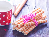Wafer tubes Stock Image