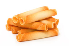 Wafer tubules Royalty Free Stock Photos