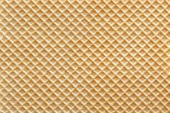 Wafer with vanilla background. Full frame royalty free stock photo
