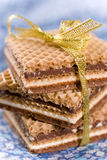 Wafers. With cacao cream and nuts Royalty Free Stock Photography