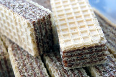 Wafers. With a nougat cream - close up image Royalty Free Stock Image