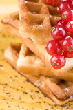 Wafers with berries Royalty Free Stock Photo