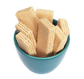 Wafers in bowl Royalty Free Stock Images