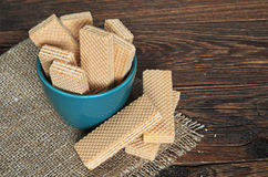 Wafers in bowl Royalty Free Stock Photography
