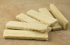 Wafers on brown background Stock Image