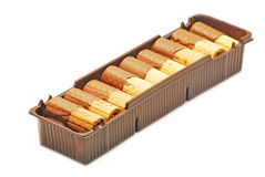 Wafers with chocolate Stock Photography