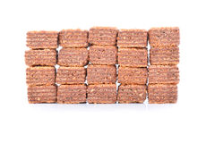 Wafers with chocolate isolated Royalty Free Stock Photography