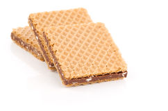 Wafers with chocolate Stock Photos