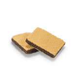 Wafers with chocolate on a white background Royalty Free Stock Photography