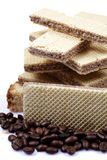 Wafers and coffee Stock Photos