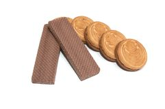 Wafers and cookie #3. Royalty Free Stock Images