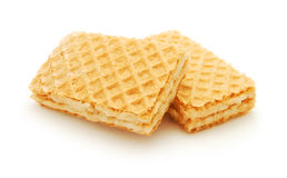 Wafers with cream Royalty Free Stock Photos