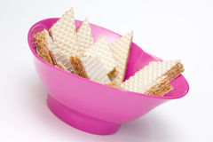 Wafers filled with bowl Stock Photography