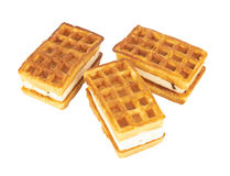 Wafers with filling Stock Photography