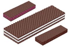 Cocoa chocolate wafer. Wafers food chocolate white amount royalty free stock image