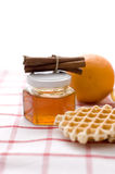 Wafers and honey Stock Image