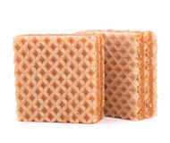 Wafers or honeycomb waffles Stock Photos
