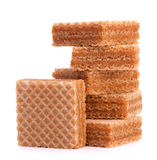 Wafers or honeycomb waffles Royalty Free Stock Photography