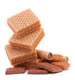 Wafers or honeycomb waffles Royalty Free Stock Image