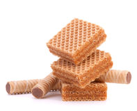 Wafers or honeycomb waffles Stock Images