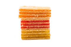 Wafers or honeycomb waffles isolated Royalty Free Stock Photography