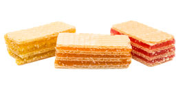Wafers or honeycomb waffles isolated Stock Images