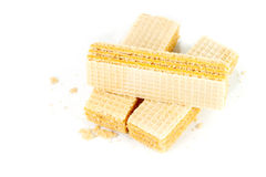 Wafers isolated on white background Stock Image