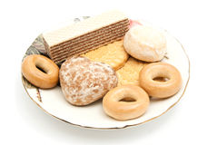 Wafers and other sweets Stock Photos