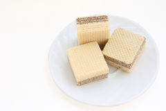 Wafers on a plate Royalty Free Stock Image
