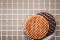 Wafers on the relief background top view Stock Photography