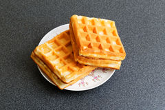 Wafers in a saucer Royalty Free Stock Photo