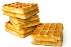 Wafers. Some the tasty, recently prepared wafers Stock Images