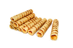 Wafers tubules Royalty Free Stock Photography