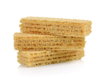 Wafers  on white background Stock Images