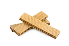 Wafers on white Royalty Free Stock Photos