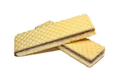 Wafers on white Stock Images