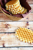 Wafers in a wicker basket Stock Photography
