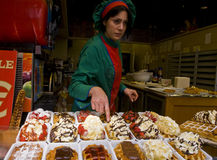 Waffal seller Royalty Free Stock Photos