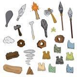 Waffe der Steinzeitalterkarikatur stock abbildung