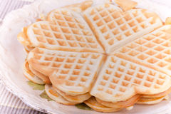 Waffel heart pancakes Stock Photography