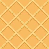 Waffel-nahtloser Muster-Hintergrund-Vektor Stockfotografie