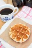 Waffel und Kaffee Lizenzfreies Stockbild