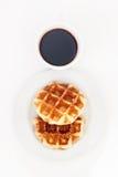 Waffel und Kaffee Lizenzfreie Stockfotografie