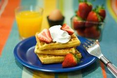Waffel zum Frühstück Lizenzfreie Stockbilder