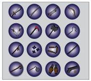 Waffen-Ikone für Spiel oder Netz Stockfotos