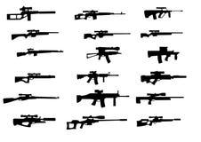 Waffen mit Scharfschützebereich Stockfoto