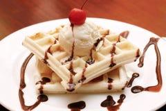 waffle ванили вишни Стоковое фото RF