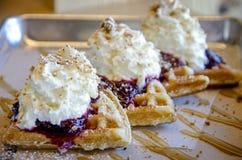 waffle десерта Стоковое Фото