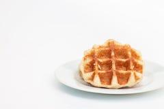 Waffle и кофе Стоковое Фото
