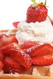 waffle клубники Стоковые Изображения